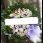 01980w  พวงหรีดดอกไม้  เริ่มต้น 1500 บ.