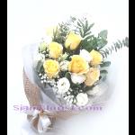 01775na  ช่อดอกไม้รวมโทนเหลืองขาว ราคาเริ่ม 2250 บ.
