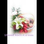 01957n กระเช้าผลไ้ม้ดอกไม้  เริ่มต้น 2000 บ.
