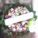 01970w  พวงหรีดดอกไม้  เริ่มต้น 1650 บ.