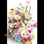 01911HG   กระเช้าดอกไม้รวม