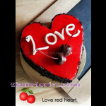 4088  Love Red Heart Cake