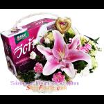 2186BA  กระเช้าพรุนสกัด และดอกไม้สด  ตามแบบ 1990 บ.