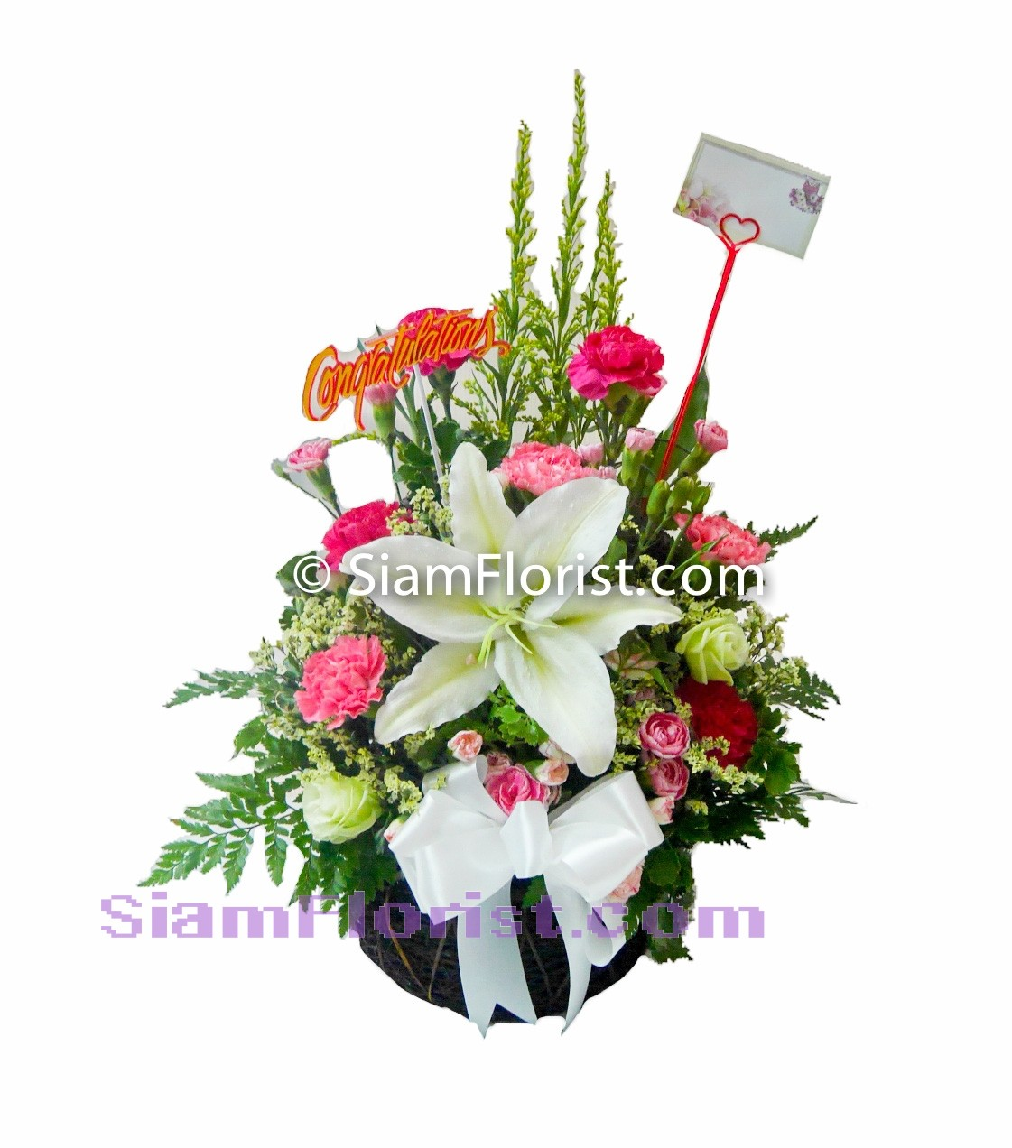 1030 Basket of Mixed Flowers