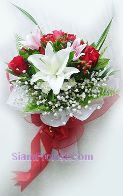2058   Bouquet of Lilies and Roses
