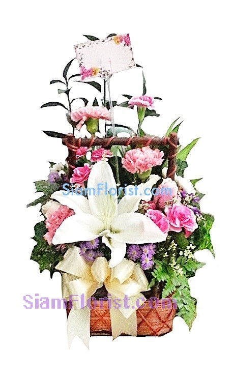 1010 Basket of Mixed Flower  Click for detail