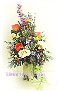 2280   Vase of Artificial Flowers  start US$74