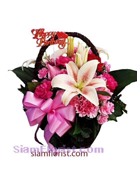 2328   Basket of Mixed Flowers