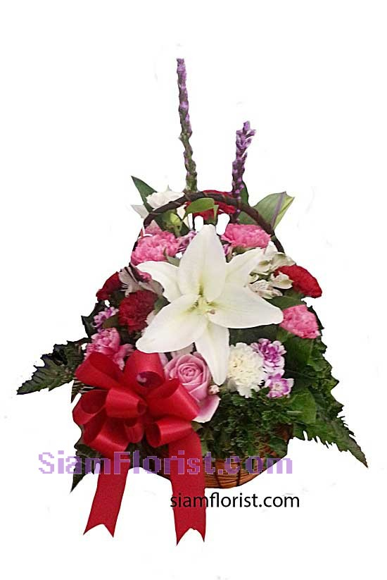2329   Basket of Mixed Flowers