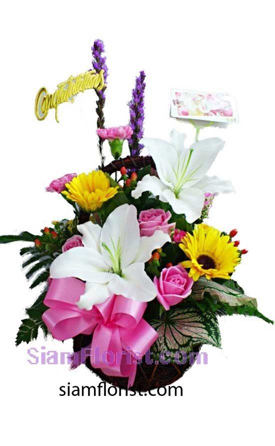 2332   Basket of Mixed Flowers