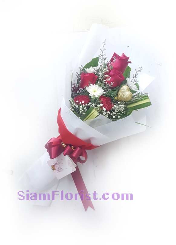 1201 Bouquet of Rose Carnation Mixed Flowers