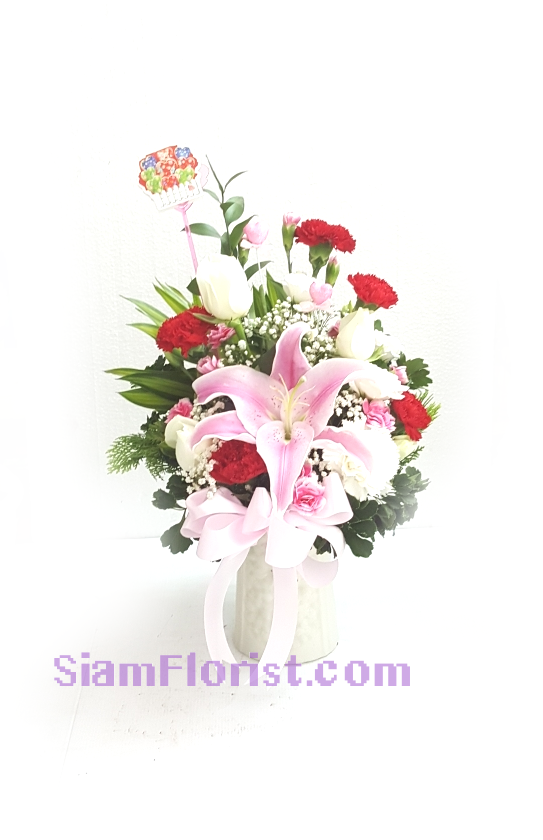 1099 Vase of Flowers. more detail click