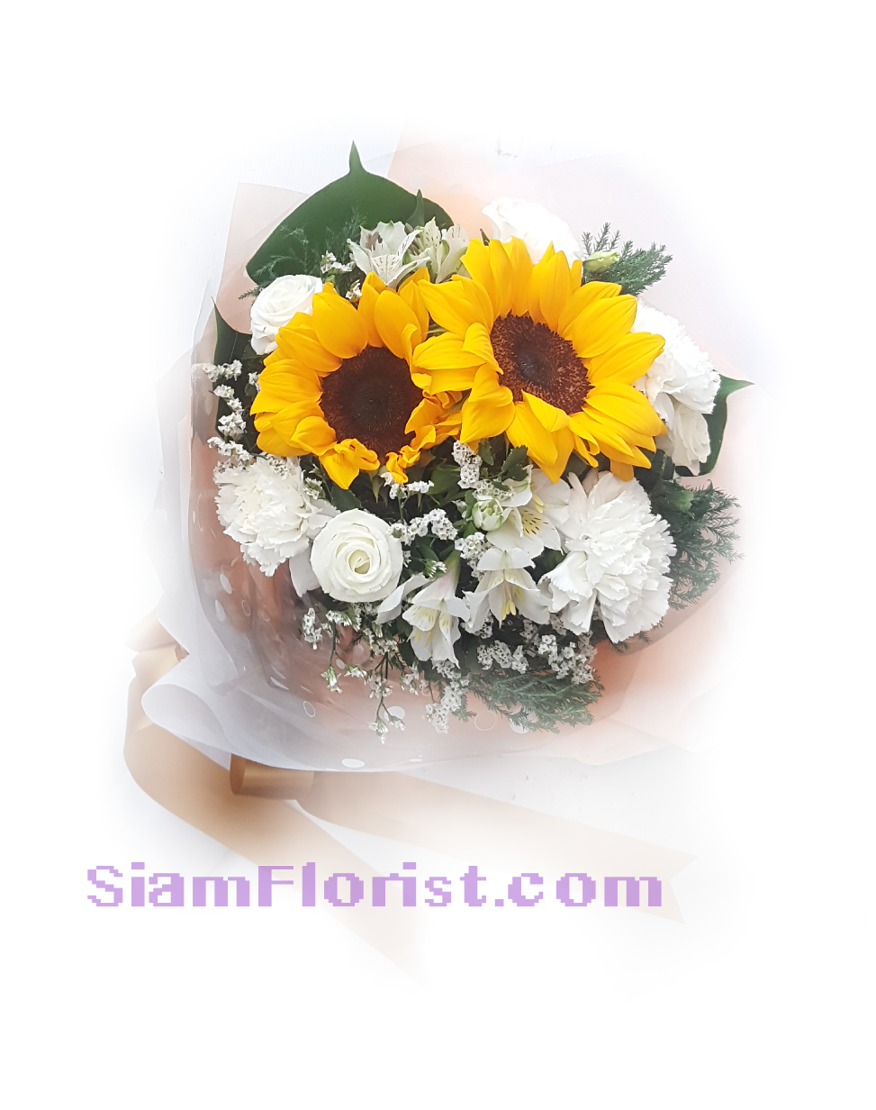 SUN1168 Bouquet of SunFlowers and mixed flowers