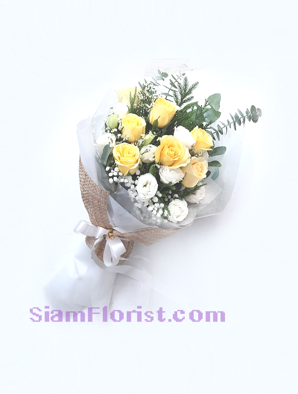 01775na Bouquet of  Yellow white mixed flowers