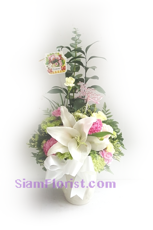 1105 Vase of Flowers. more detail click