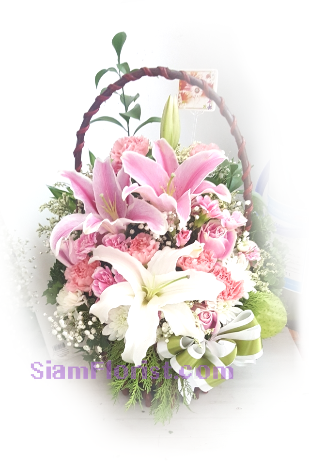 1149 Basket of Flowers. more detail click