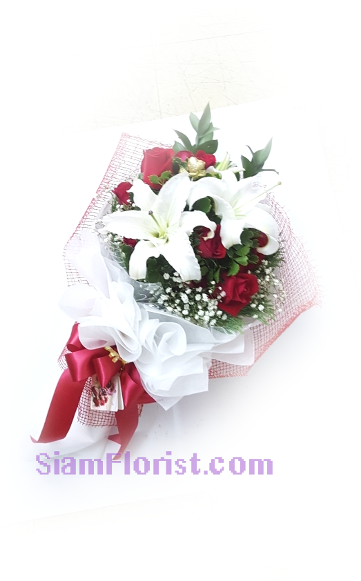 2536  Bouquet of Roses Lilies click for more detail