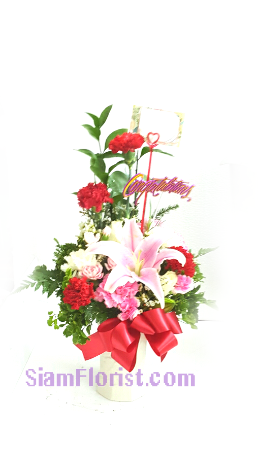 1091 Vase of Flowers. more detail click