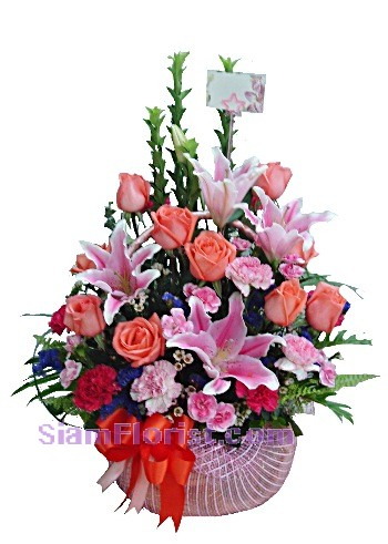 2285  Basket of  Mixed Flowers  start US$80
