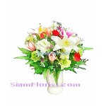 AR2382  Vase of Artificial Flowers