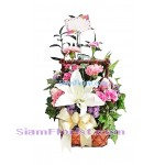 1010 Basket of Mixed Flowers