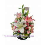 1031  Basket of Mixed Flowers