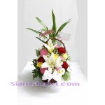 na1040 Basket of Mixed Flowers