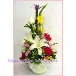 2183  Vase of Mixed Fresh Flowers  start US$54