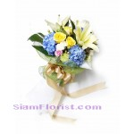 HG1042 Bouquet of Mixed flowers and some Hydrangeas  Click for detail