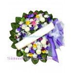 W2381  Sympathy Flowers Wreath