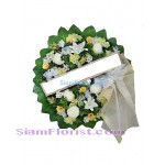 W2377 Sympathy Flowers Wreath  more detail click