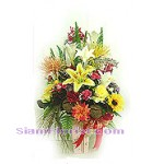 2278   Vase of Artificial Flowers  start US$78