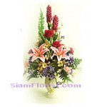 2279   Vase of Artificial Flowers  start US$74