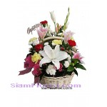 2333  Basket of Mixed Fresh Flowers