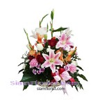2335  Basket of Mixed Fresh Flowers