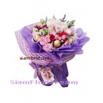 2340  Bouquet of Bouquet Flowers and Ferrero