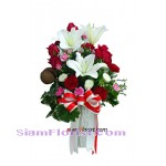 2357 Vase of Lilies and  Roses
