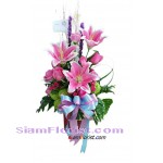 2358 Vase of Lilies and  Roses