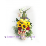 01837SUN Vase of SunFlowers