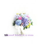 HG2433  Vase of Hydrangeas and Mixed Flowers Click for detail