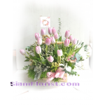 01847TL  Basket  of Tulips