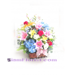 2239AR   Basket of Artificial Flowers