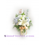 01823HG Vase of Mixed flowers  Hydrangeas