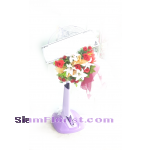 WF1163  Sympathy Fan Wreath