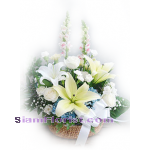 2054ba Basket of Mixed Flowers
