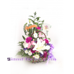 01923n Basket of Mixed Flowers