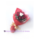 11345 Bouquet of Red Roses and One White Rose..click for detail