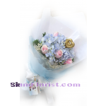 01869HG Bouquet of  Hydrangeas mixed flowers