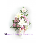 01768 Vase of Mixed Flowers