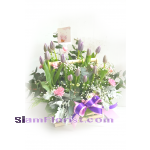 01813TL  Basket  of Tulips